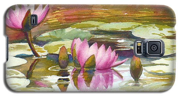 Pink Waterlilies Galaxy S5 Case