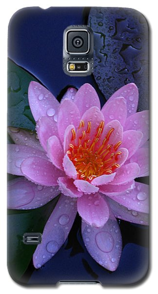 Galaxy S5 Case featuring the photograph Pink Waterlily by Raymond Salani III