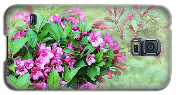 Galaxy S5 Case featuring the photograph Pink Weigela by Trina  Ansel