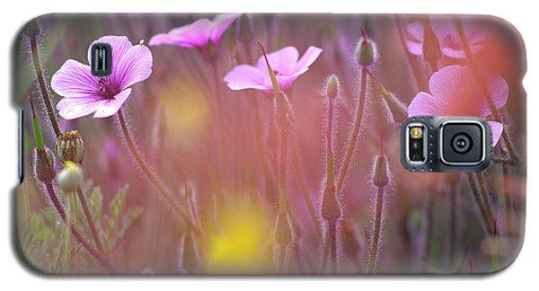 Pink Wild Geranium Galaxy S5 Case