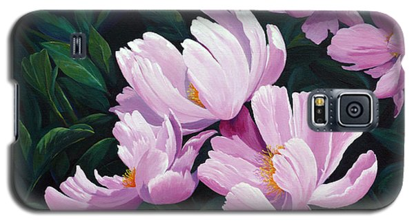 Pink Windflower Peonies Galaxy S5 Case