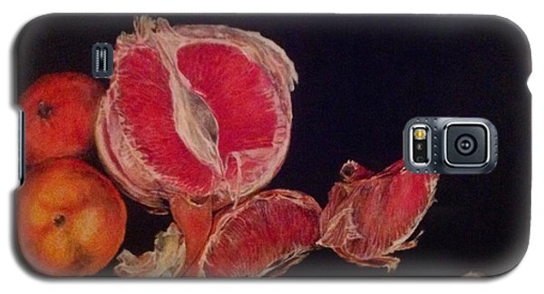 Galaxy S5 Case featuring the painting Pink Zest by Iya Carson