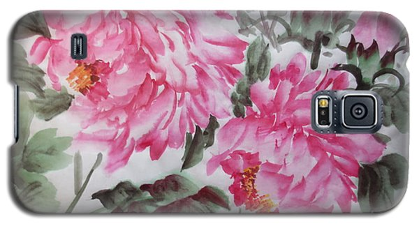 Galaxy S5 Case featuring the painting Pink030914-516 by Dongling Sun