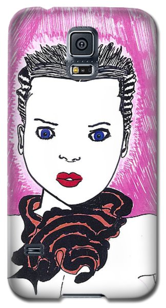 Galaxy S5 Case featuring the drawing Pinky Party Girl by Don Koester