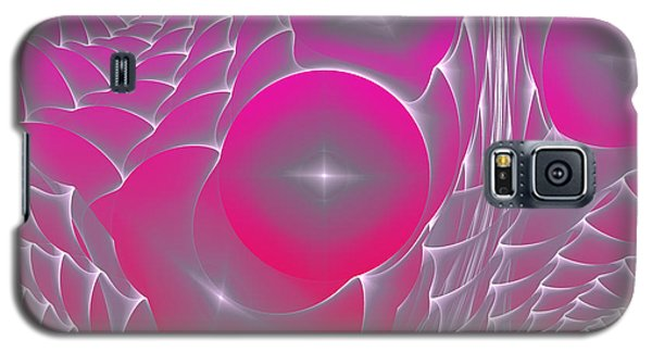 Galaxy S5 Case featuring the digital art Pinky Space by Hanza Turgul