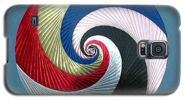 Galaxy S5 Case featuring the mixed media Pinwheel by Ron Davidson