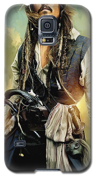 Johnny Depp Galaxy S5 Case - Pirates Of The Caribbean Johnny Depp Artwork 1 by Sheraz A