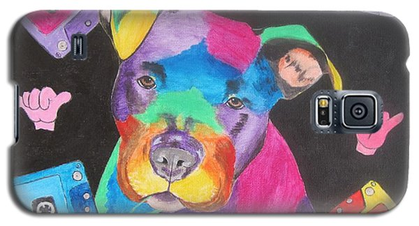 Galaxy S5 Case featuring the painting Pitbull by Jeepee Aero