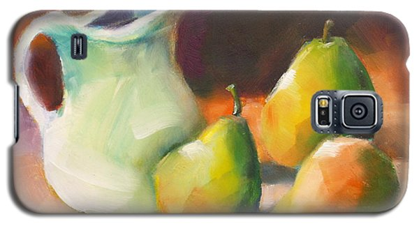 Galaxy S5 Case featuring the painting Pitcher And Pears by Michelle Abrams