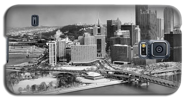 Pittsburgh Black And White Winter Panorama Galaxy S5 Case
