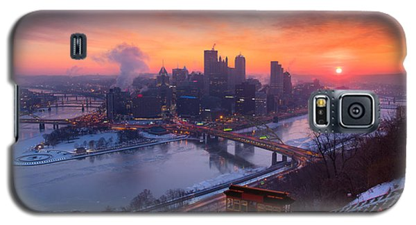 Pittsburgh Skyline Winter 2 Galaxy S5 Case