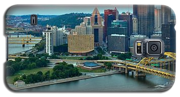 Pittsburgh Panorama At Dusk Galaxy S5 Case