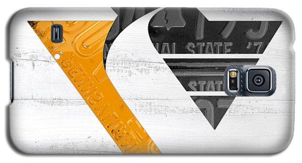 Pittsburgh Penguins Hockey Team Retro Logo Vintage Recycled Pennsylvania License Plate Art Galaxy S5 Case
