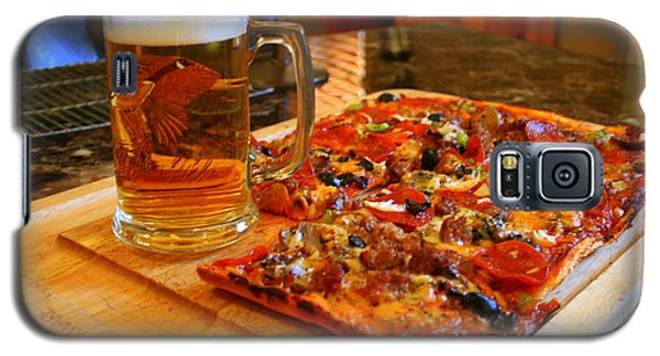 Pizza And Beer Galaxy S5 Case by Kay Novy