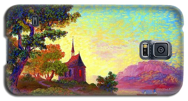 Galaxy S5 Case featuring the painting Beautiful Church, Place Of Welcome by Jane Small