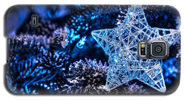 Blue Christmas Galaxy S5 Case