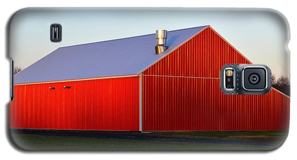 Galaxy S5 Case featuring the photograph Plain Jane Red Barn by Bill Swartwout