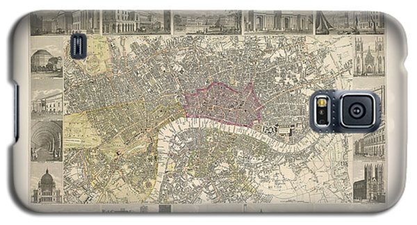 Tower Of London Galaxy S5 Case - Plan Of London by British Library