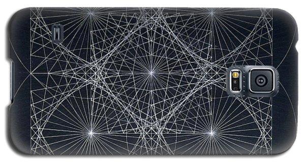 Galaxy S5 Case featuring the drawing Plancks Blackhole by Jason Padgett