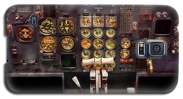 Plane - Cockpit - Boeing 727 - The Controls Are Set Galaxy S5 Case by Mike Savad
