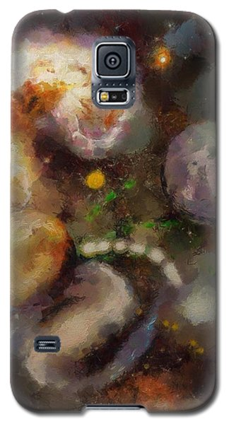Galaxy S5 Case featuring the painting Planet Explosion by Wayne Pascall