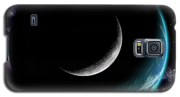 Planet With Moon Galaxy S5 Case
