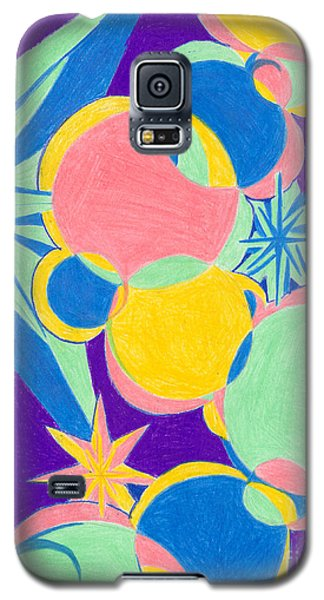 Galaxy S5 Case featuring the drawing Planets And Stars by Kim Sy Ok
