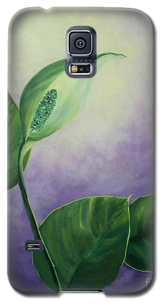 Galaxy S5 Case featuring the painting Plant In The Light by Jesslyn Fraser