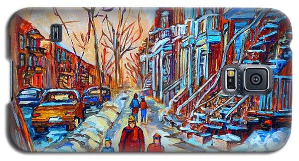 Plateau Montreal Street Scene Galaxy S5 Case