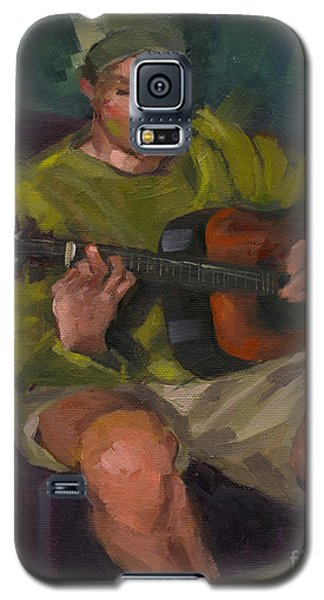 Galaxy S5 Case featuring the painting Play A Song For Me by Nancy  Parsons