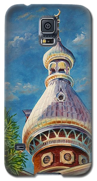 Galaxy S5 Case featuring the painting Play Of Light - University Of Tampa by Roxanne Tobaison