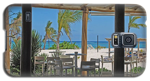Playa Blanca Restaurant Bar Area Punta Cana Dominican Republic Galaxy S5 Case by Heather Kirk