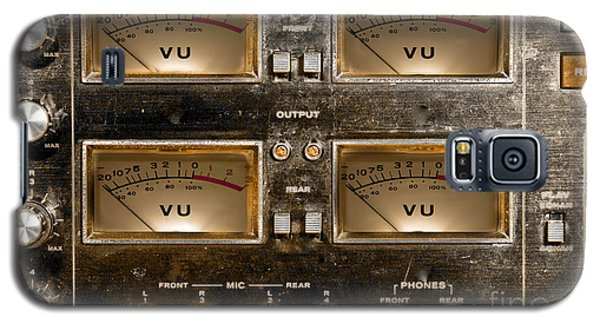 Playback Recording Vu Meters Grunge Galaxy S5 Case by Gunter Nezhoda