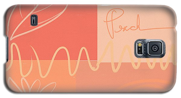 Playful Peach Galaxy S5 Case by Lourry Legarde