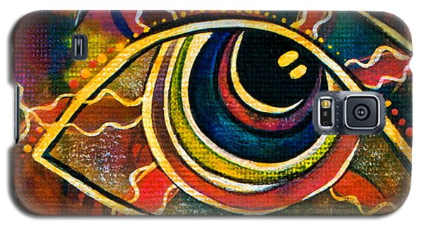 Galaxy S5 Case featuring the painting Playful Spirit Eye by Deborha Kerr