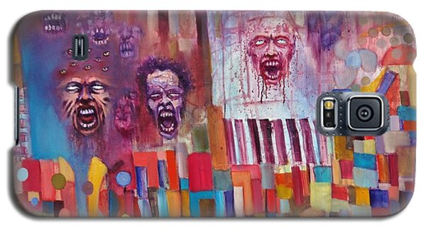 Galaxy S5 Case featuring the painting Playground Of The Undead by Jason Williamson