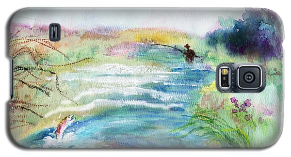Galaxy S5 Case featuring the painting Playin' Hooky by C Sitton