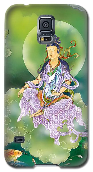 Galaxy S5 Case featuring the photograph Playing Avalokitesvara   by Lanjee Chee