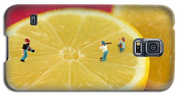 Playing Baseball On Lemon Galaxy S5 Case by Paul Ge