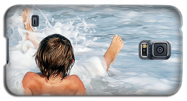 Galaxy S5 Case featuring the photograph Playing In The Waves by Sami Martin