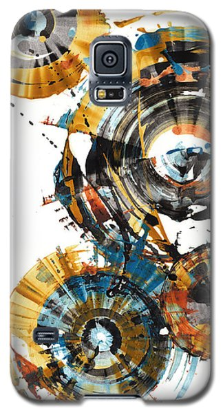 Galaxy S5 Case featuring the painting Playing In The Wind 1000.042312 by Kris Haas