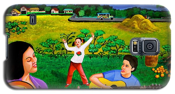 Playing Melodies Under The Shade Of Trees Galaxy S5 Case by Cyril Maza