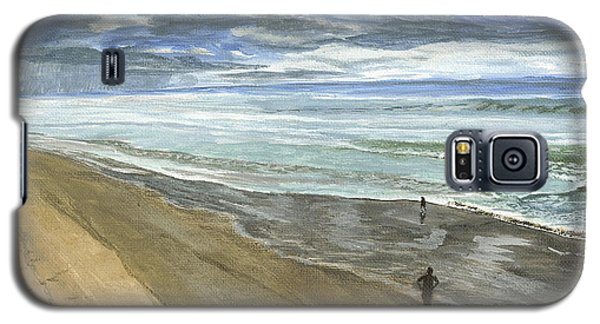 Playing On The Oregon Coast Galaxy S5 Case by Ian Donley