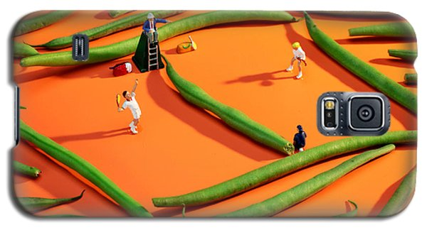 Playing Tennis Among French Beans Little People On Food Galaxy S5 Case