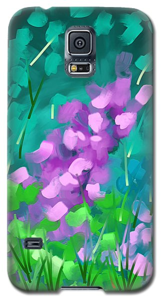 Galaxy S5 Case featuring the painting Playing With Flowers by Steven Lebron Langston
