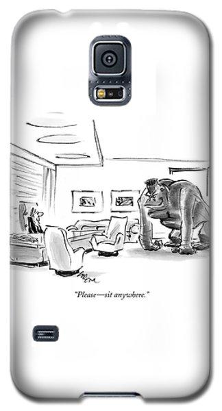 Gorilla Galaxy S5 Case - Please - Sit Anywhere by Lee Lorenz