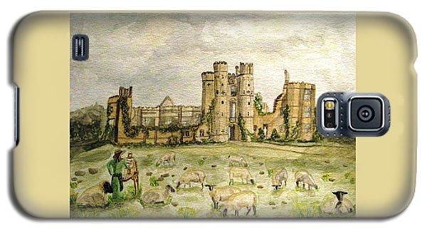 Plein Air Painting At Cowdray House Sussex Galaxy S5 Case by Angela Davies