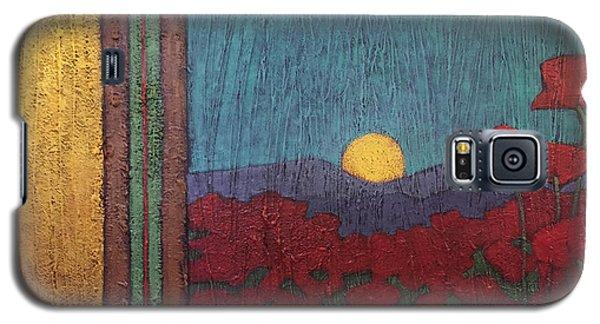 Plentiful Vista With Poppies Galaxy S5 Case