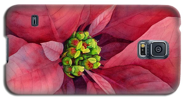 Plum Poinsettia Galaxy S5 Case