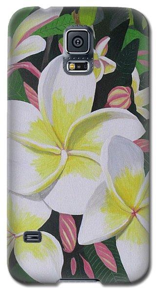 Plumeria- Aztec Gold Galaxy S5 Case